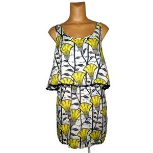 Love Sam Yellow and Black Tribal Dress Size Small